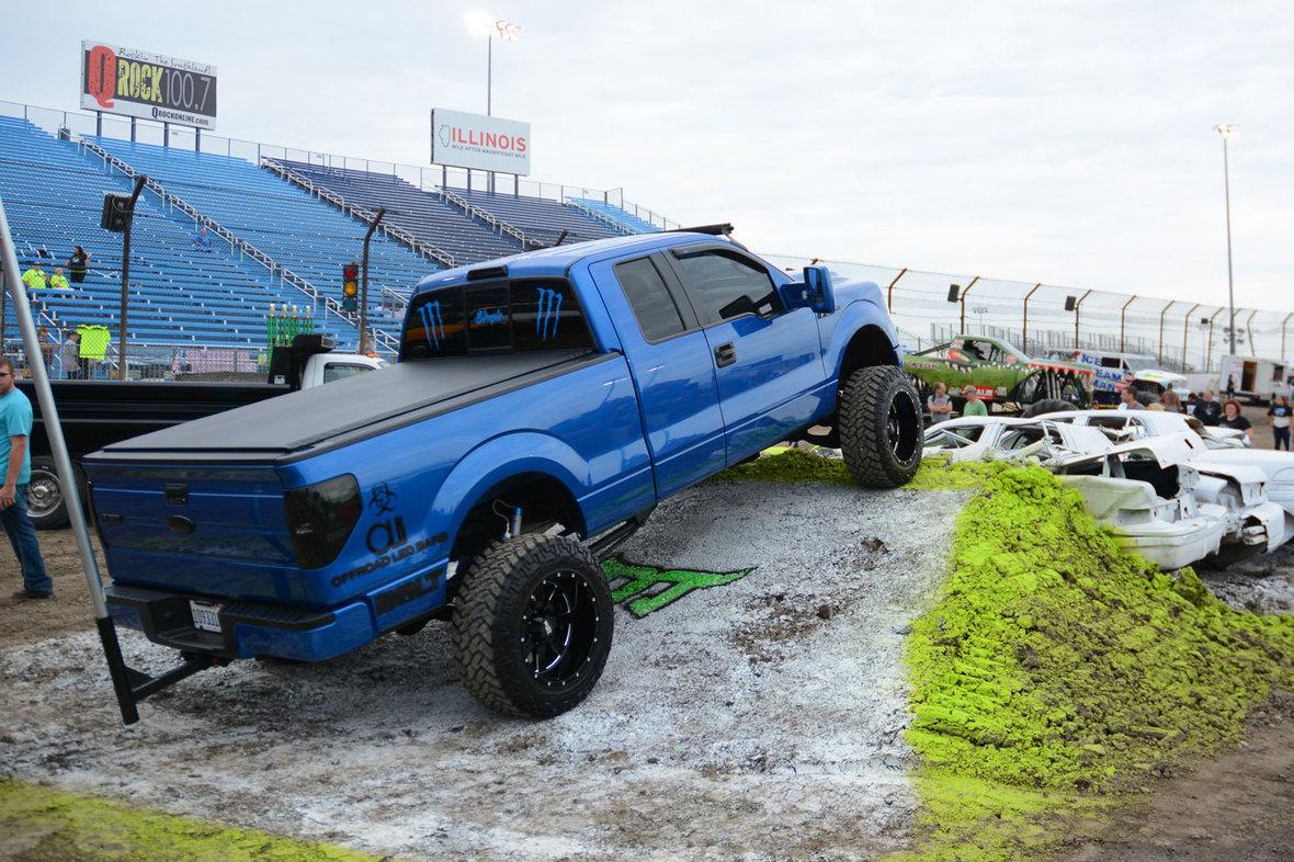 Truck-display-blue