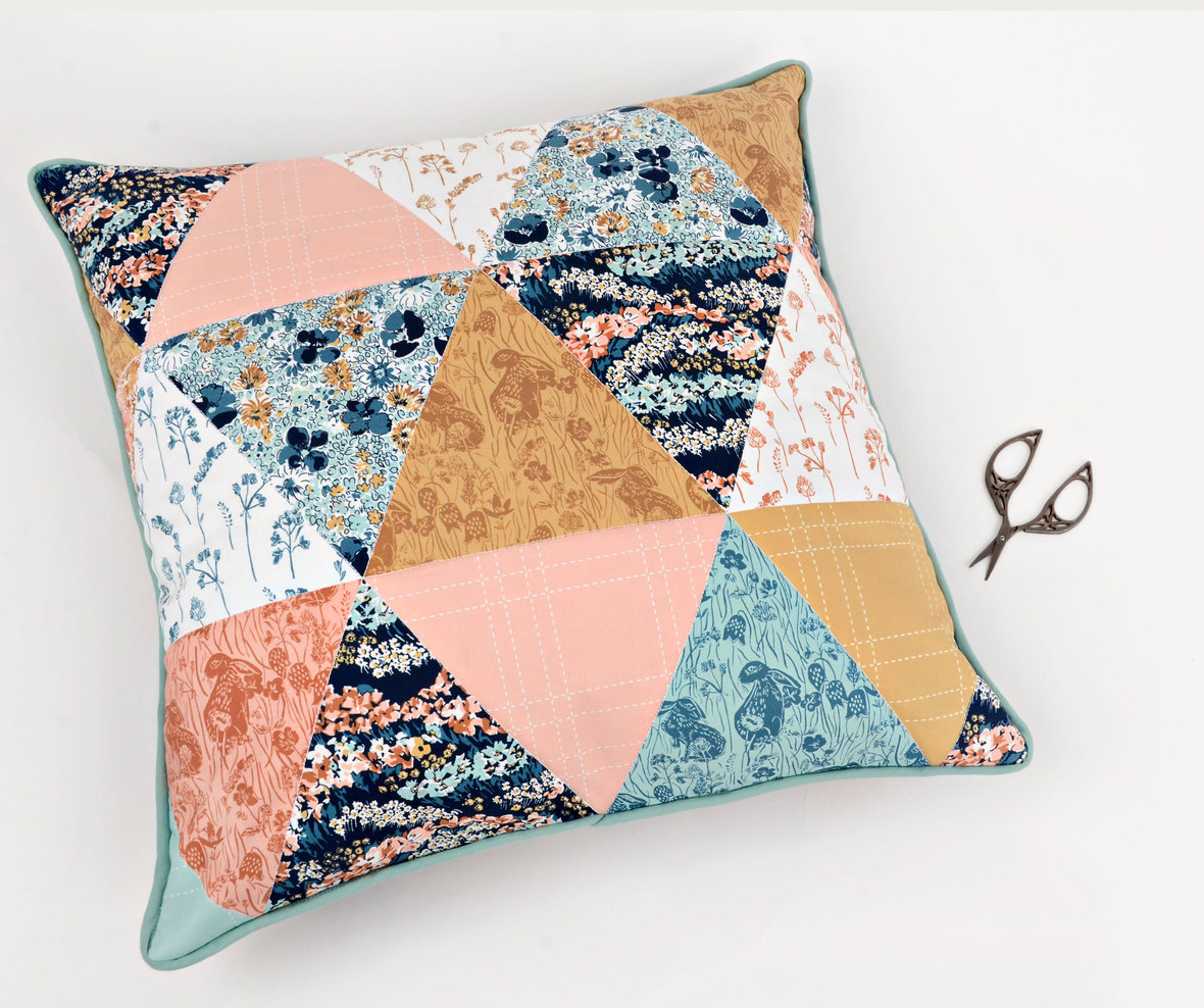 Briar-Rose-Bunny-Fabric-Triangle-Pillow-Hawthorne-Supply-Co---Cropped