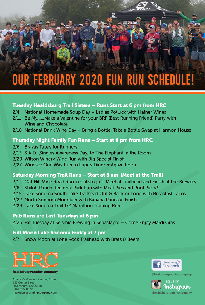 Feb 2020 run schedule