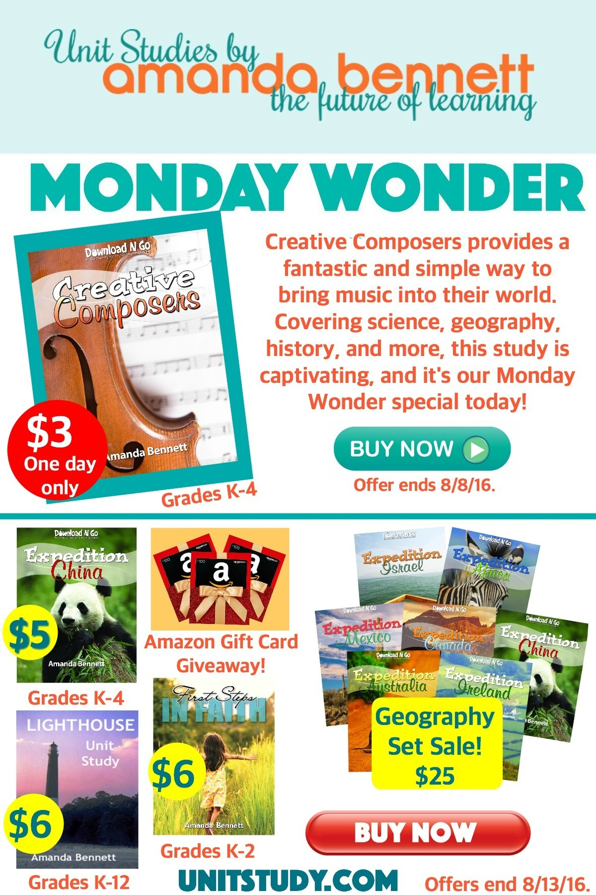 Amanda's Monday Wonder] Big Back to School Savings & an Amazon Gift