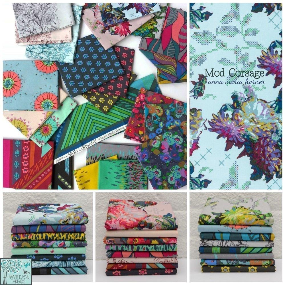 Mod Corsage Fabric