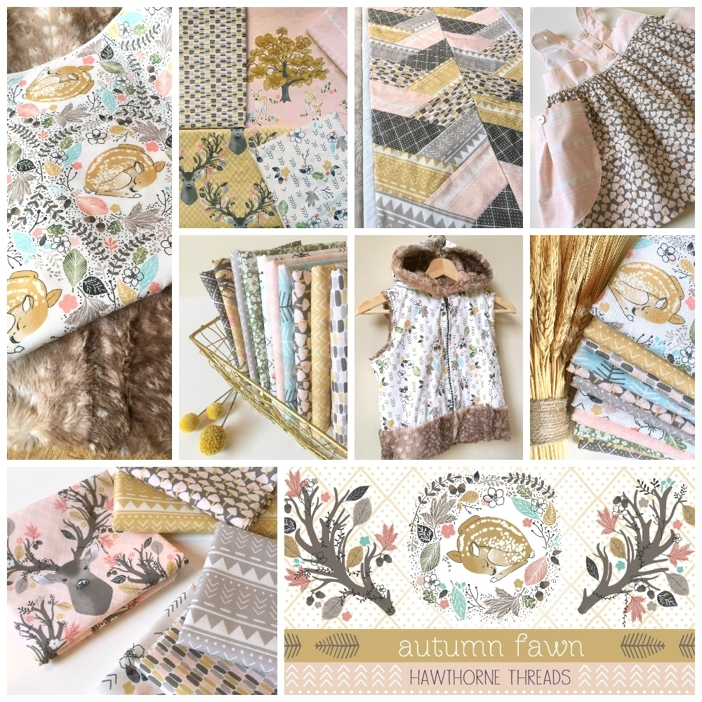 Autumn Fawn Fabric Poster 1000