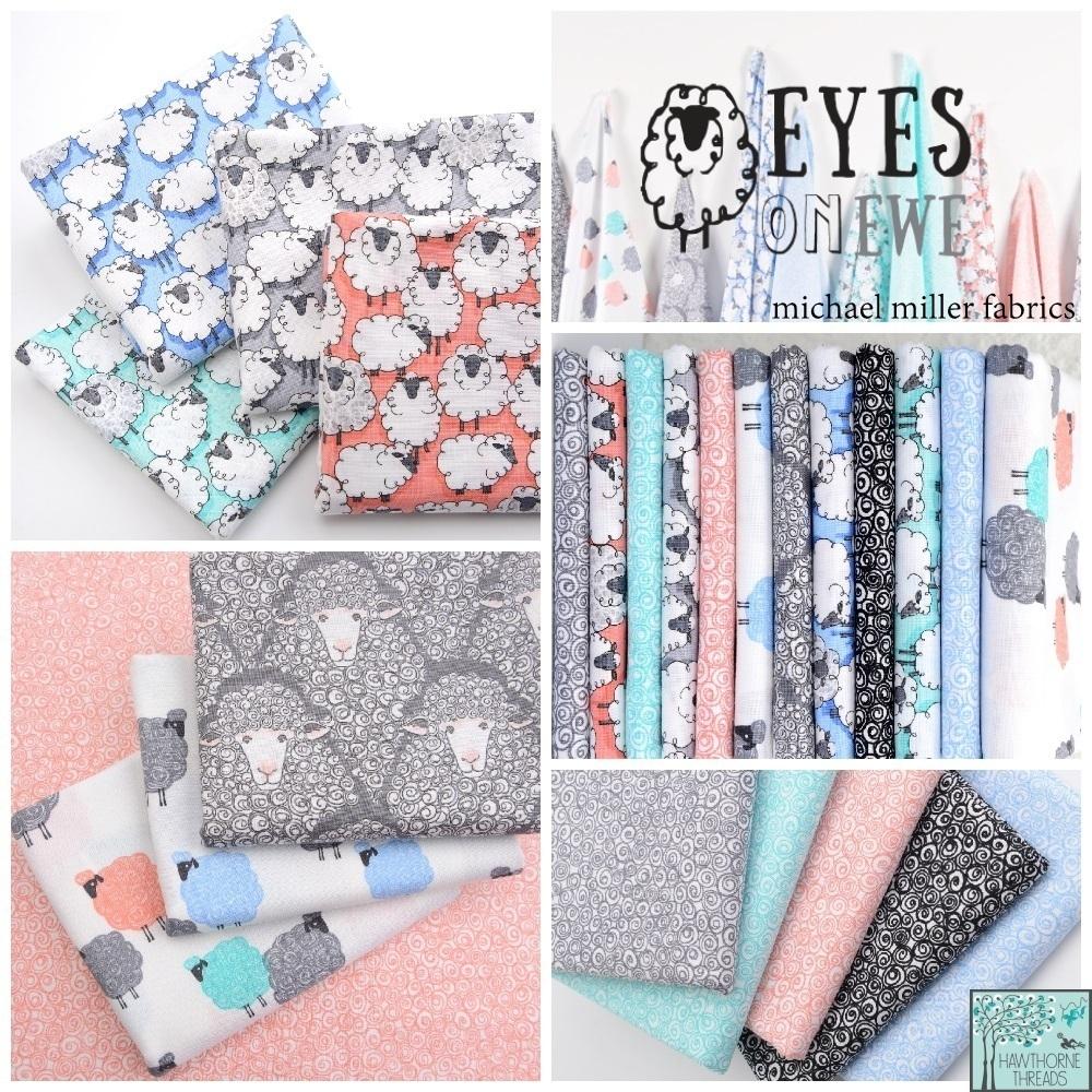 Eyes on Ewe Fabric Poster