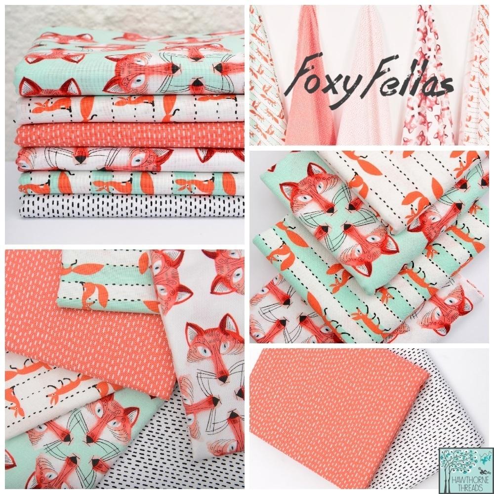Foxy Fellas Fabric Poster