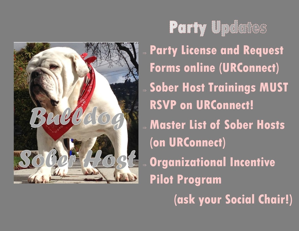 Party Policy Updates Fall 16
