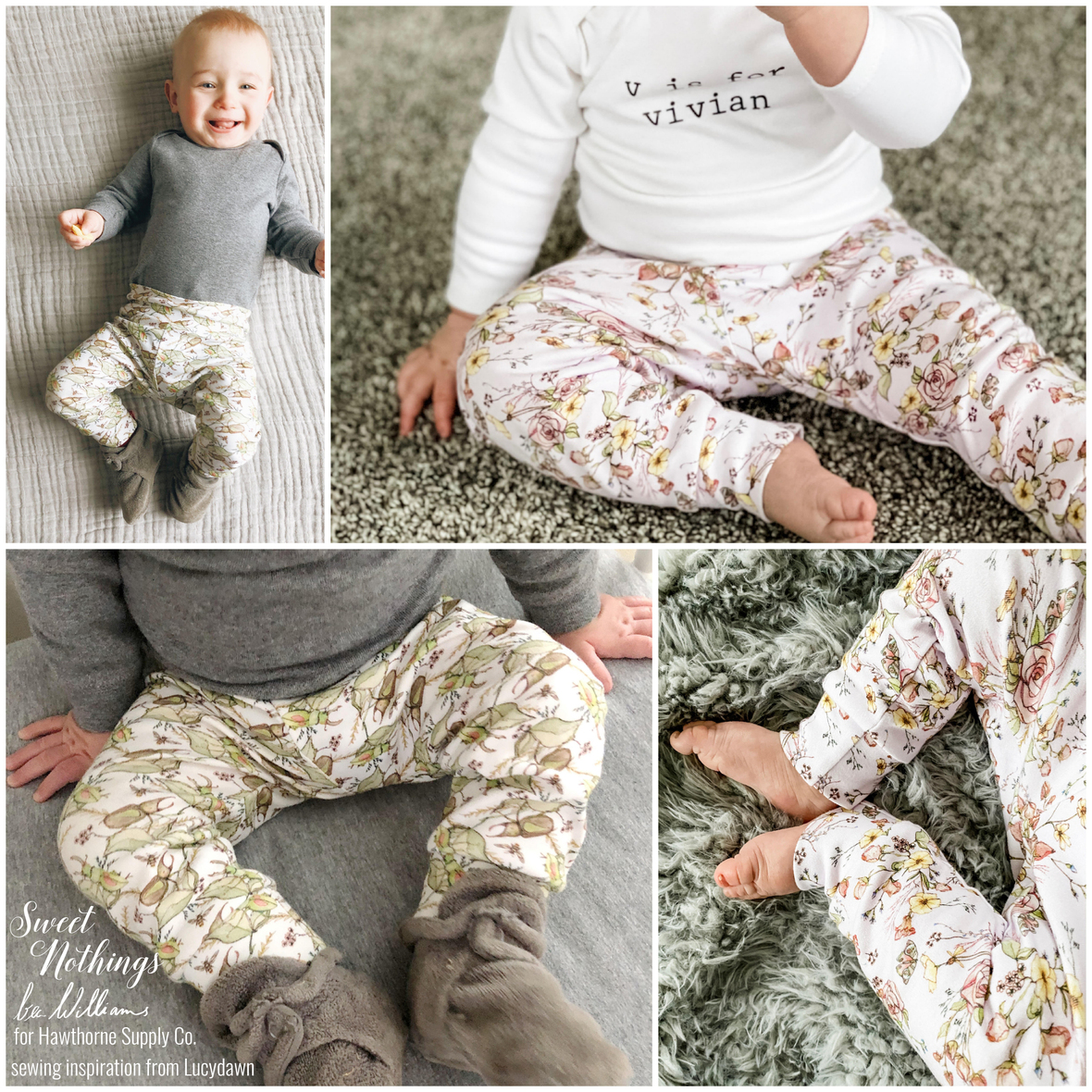 Bec Williams and Hawthorne Supply Co Sweet Nothings Baby Leggings by Lucy Dawn 2