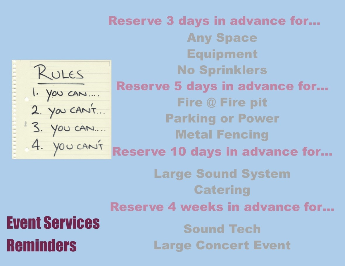 Event Services Reminders 1