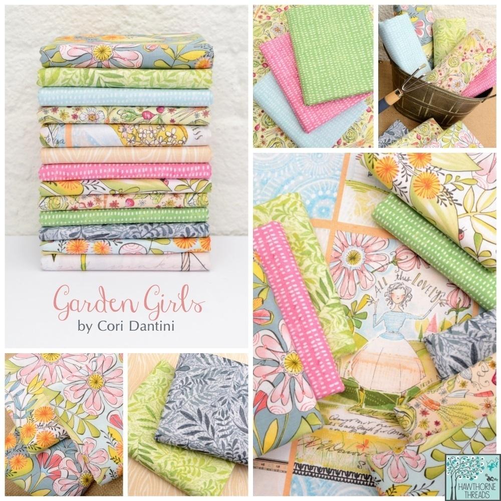 Garden Girls Fabric Poster