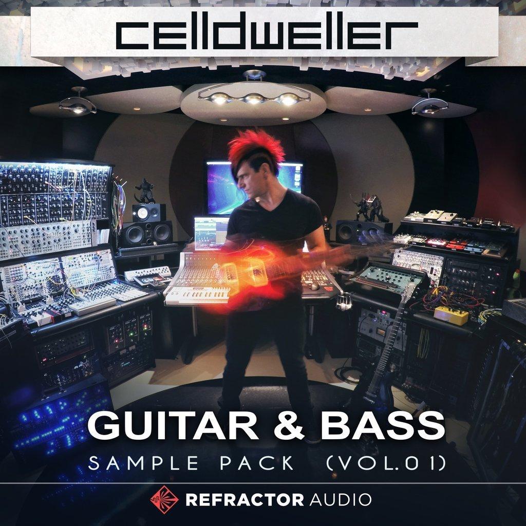 Celldweller Guitar Bass Sample Pack Cover Final 1024x1024