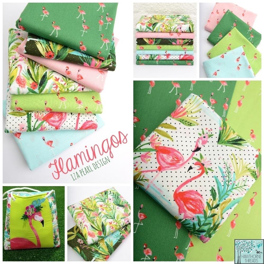 Flamingos Fabric Poster
