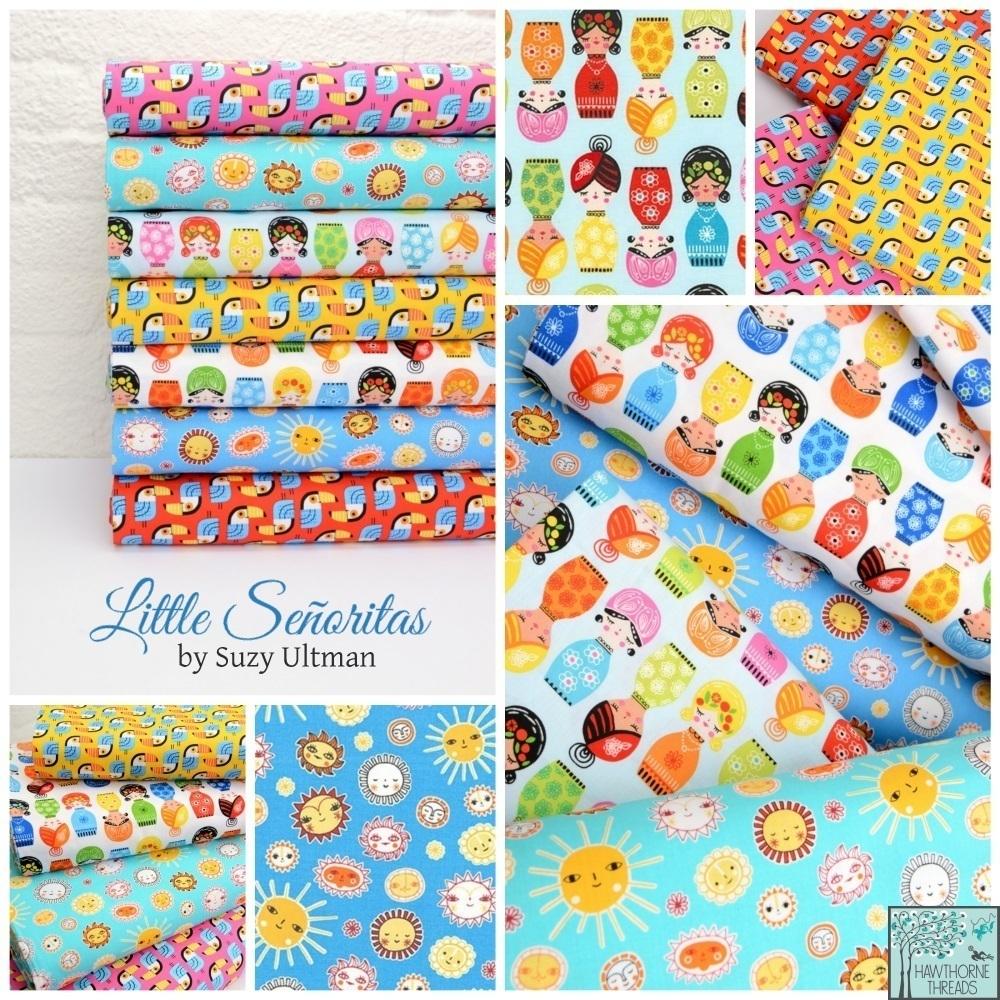 Little Senoritas Fabric Poster
