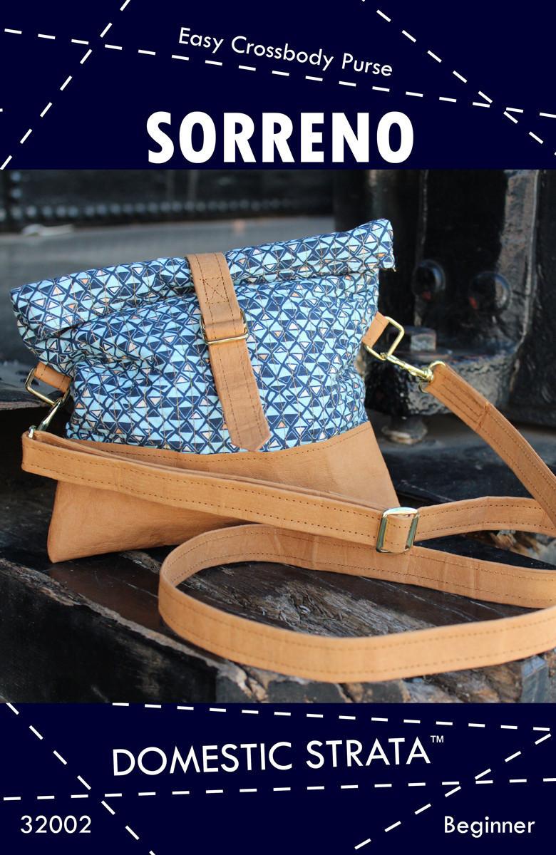 domestic strata  sorreno purse pattern sewing pattern