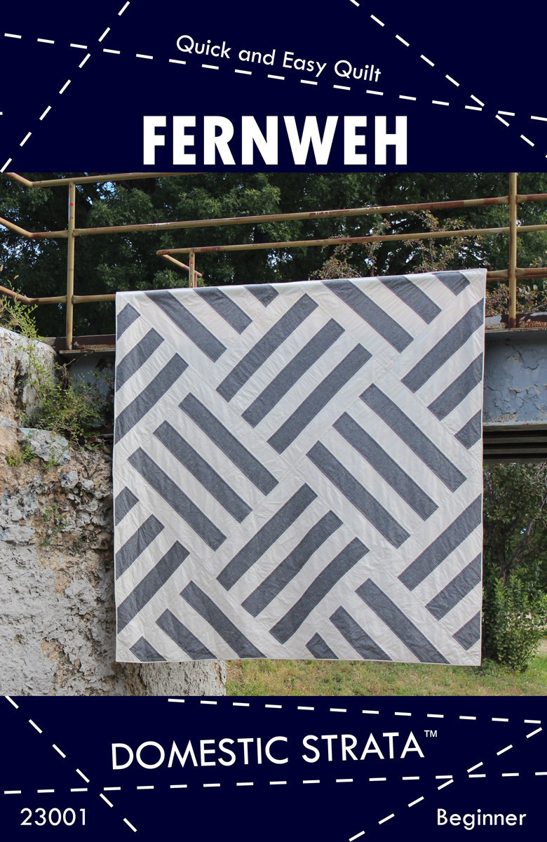 domestic strata  fernweh quilt sewing pattern