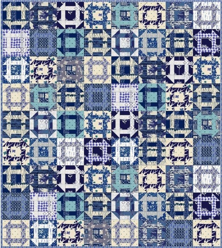 Bluebird Fabric Quilt