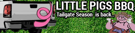 Little Pigs BBQ Tailgate Ad