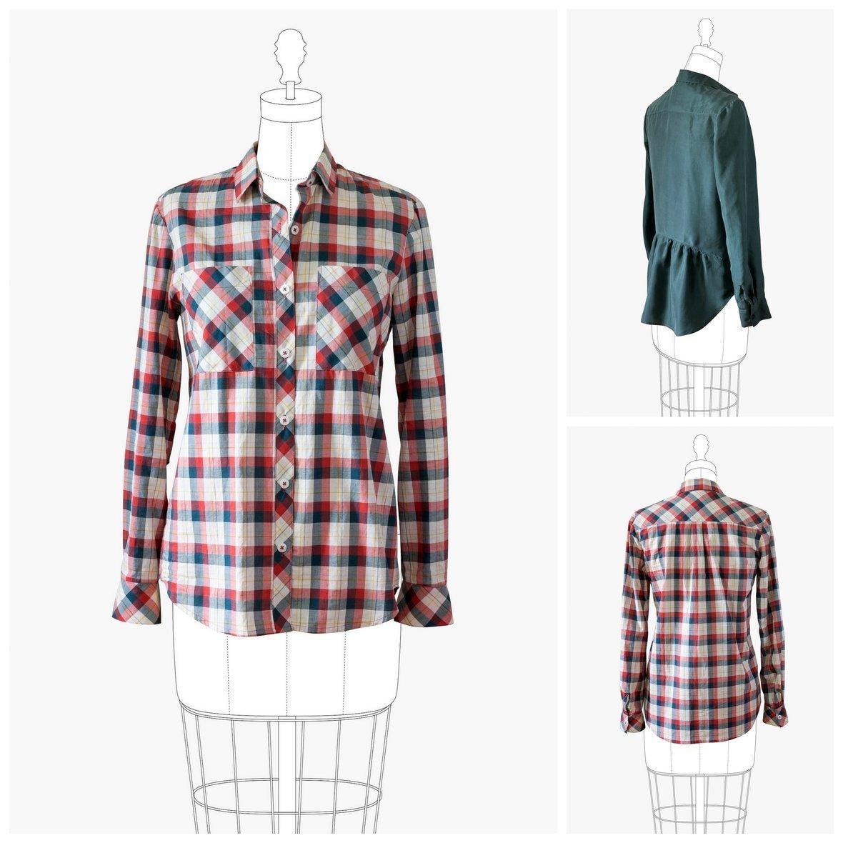 grainline studio  archer button up shirt sewing pattern