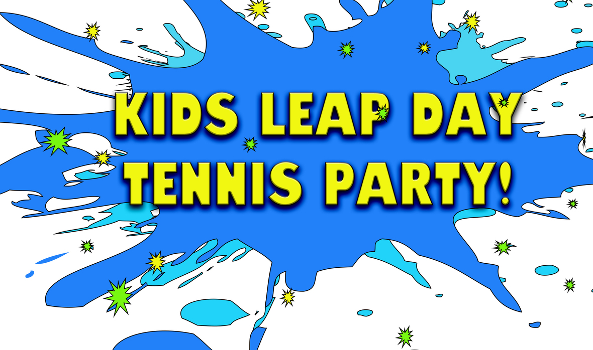 Kids Leap Day Tennis Party Header