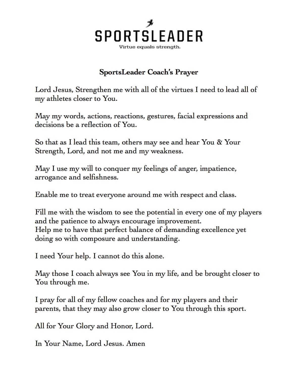 SL Coach s Prayer bigger