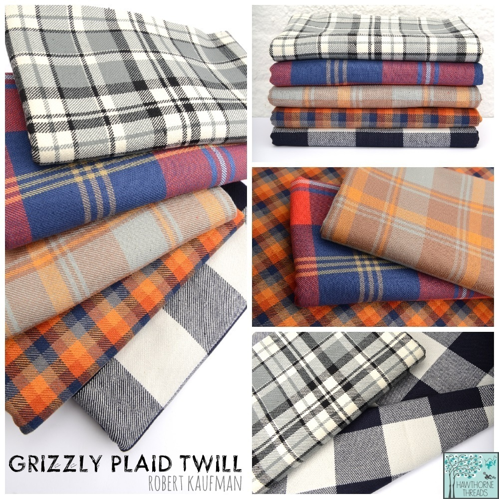Grizzly Plaid Twill Fabric