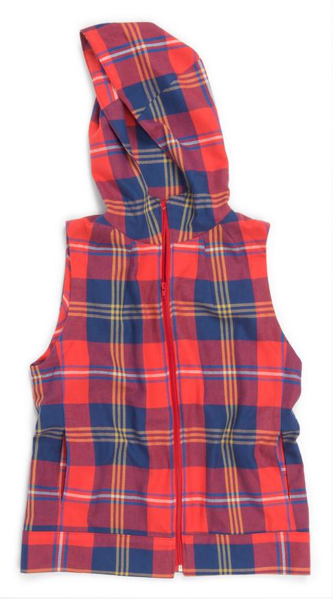 Grizzly Plaid Dropje Hooded Vest RK Pattern