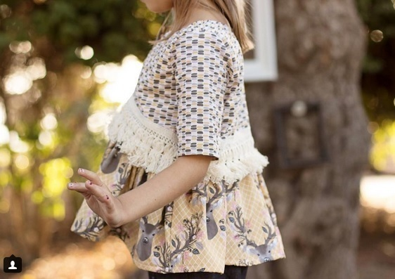 Autumn Fawn Fabric Top from Lily Shine