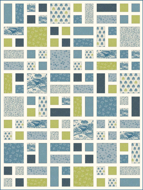 Heartwood Quilt Blue