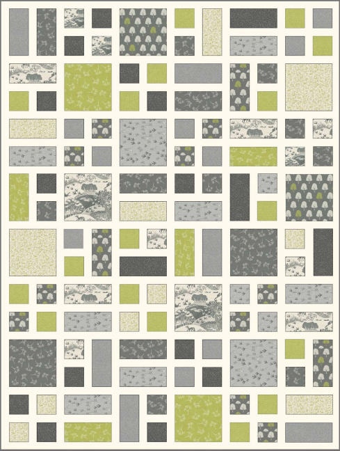 Heartwood Quilt Gray