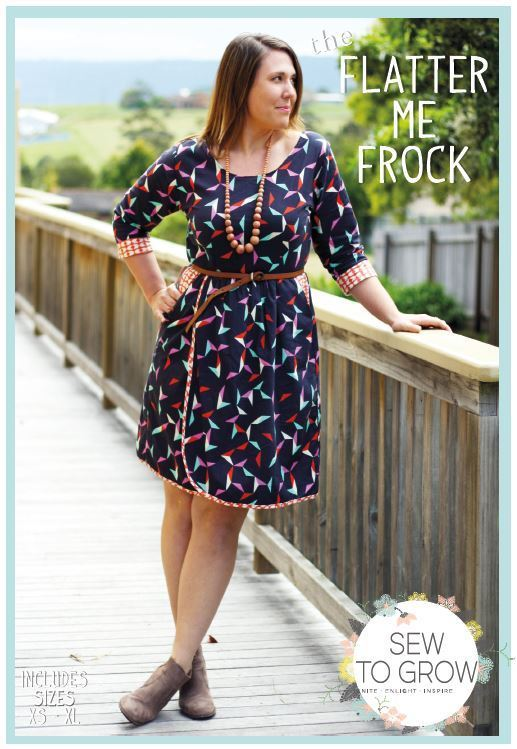 sew to grow  flatter me frock sewing pattern