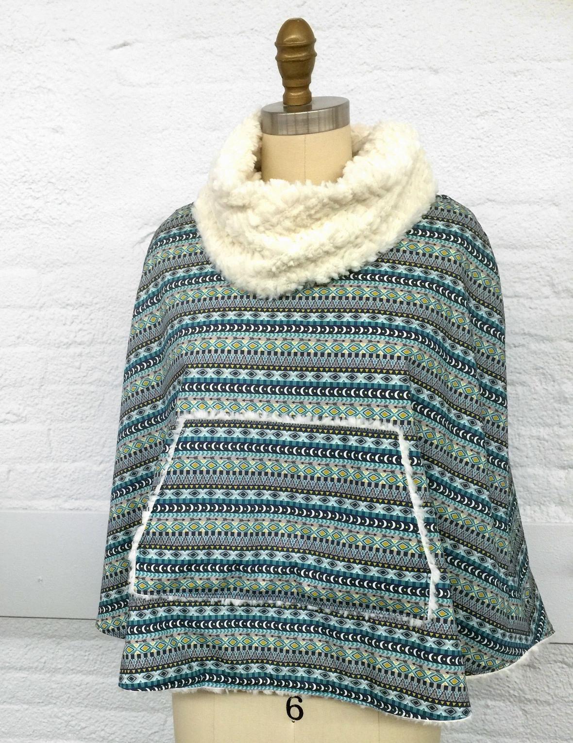Anu Fabric Popover Poncho