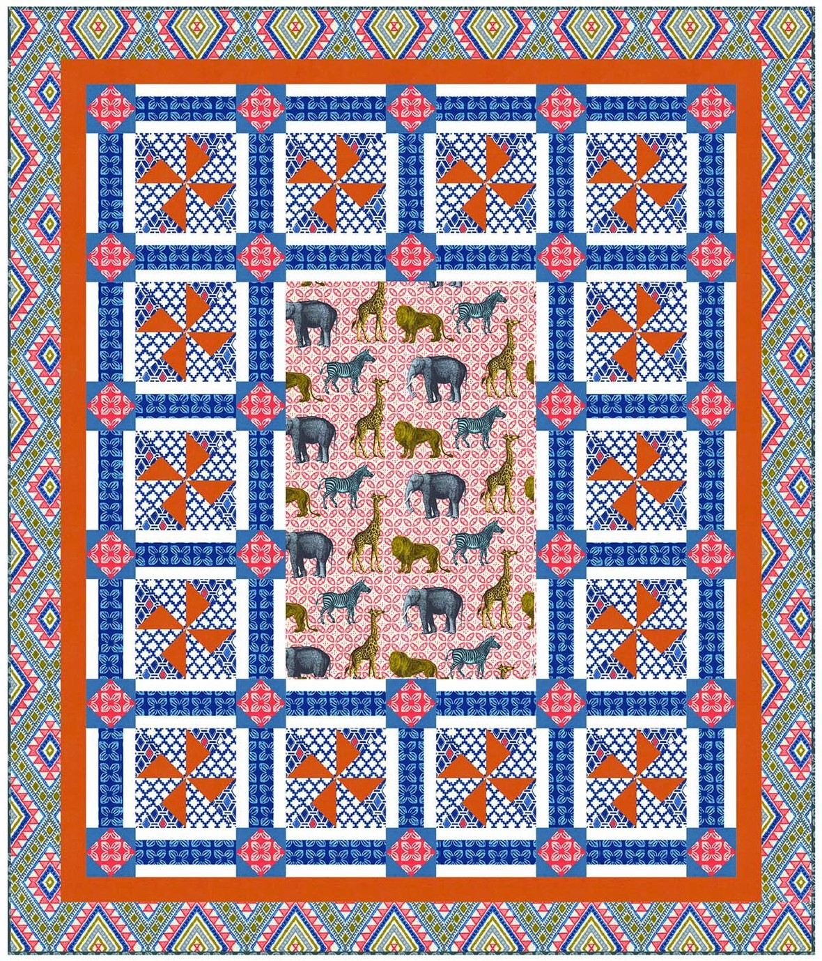 Animal Bazaar Coral MM Patterns