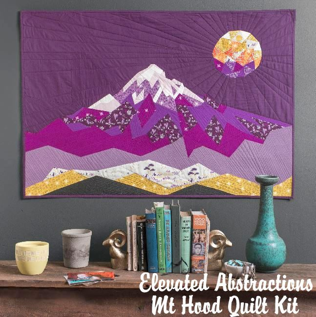 violet craft elevated abstractions mt hood quilt kit sewing pattern