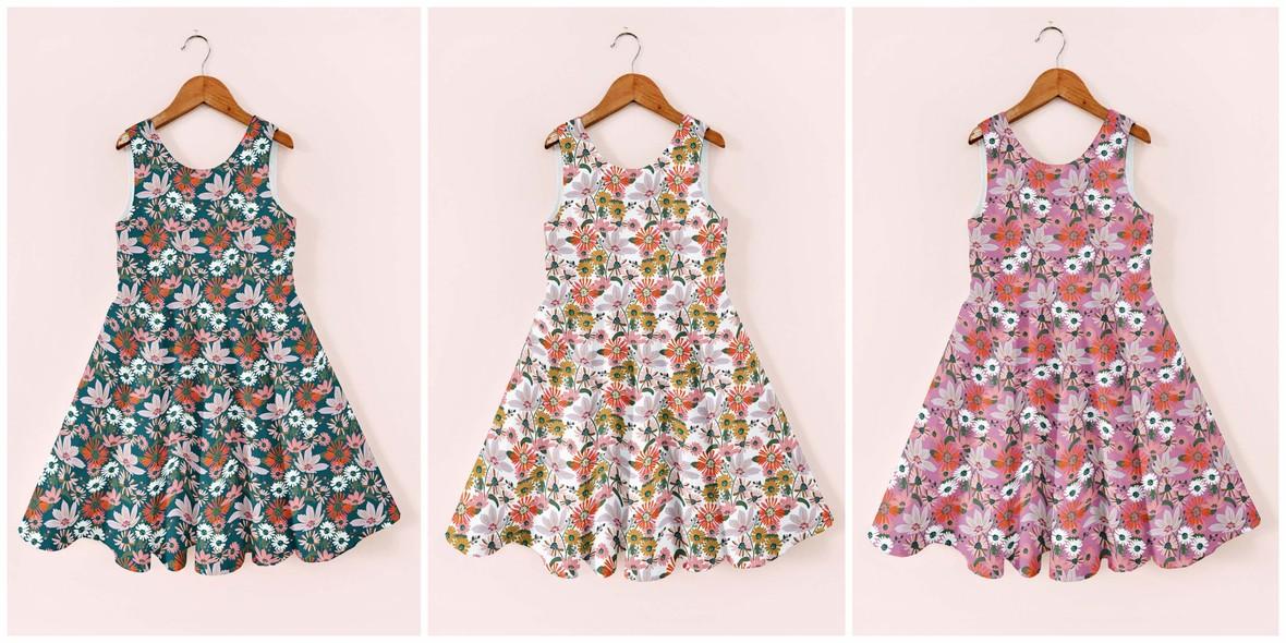 Bunny Garden Ayda Dresses Teresa Chan fabric for Hawthorne Supply Co