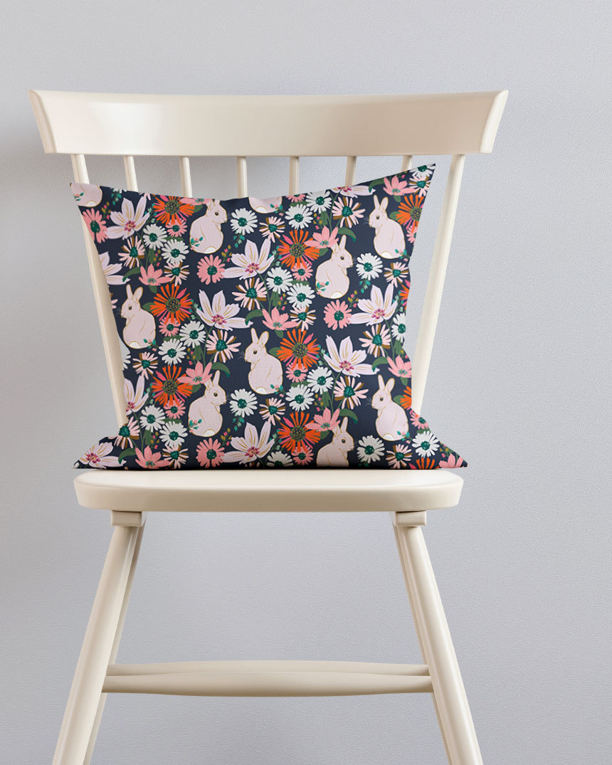 Pillow-on-Ivory-Chair-Bunnies-Nocturne