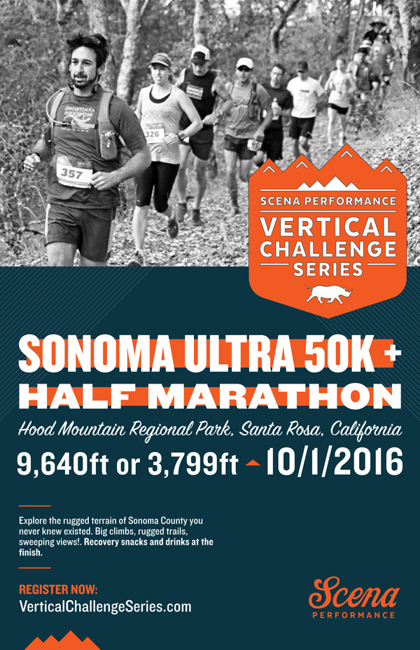 PROD SP Sonoma 50K Half VC poster 11x17 w photo