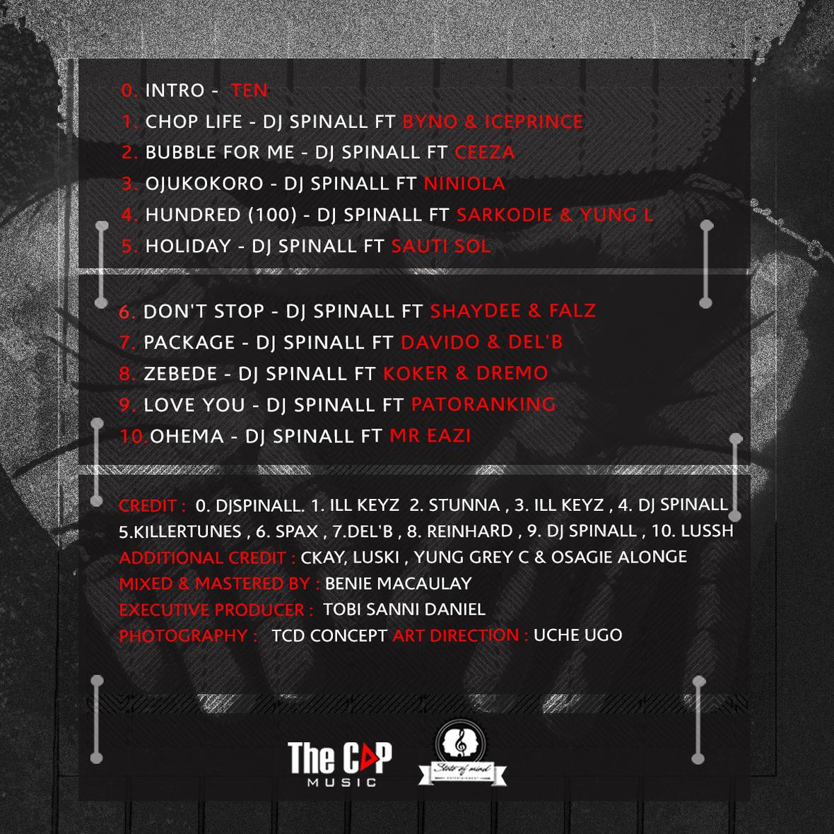 DJ SPINALL - TEN Tracklist