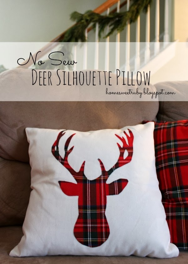 Home Sweet Ruby Blog- deer pillow tutorial