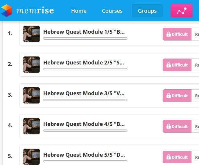 ANNOUNCING our free Memrise course, AND the Hebrew Quest