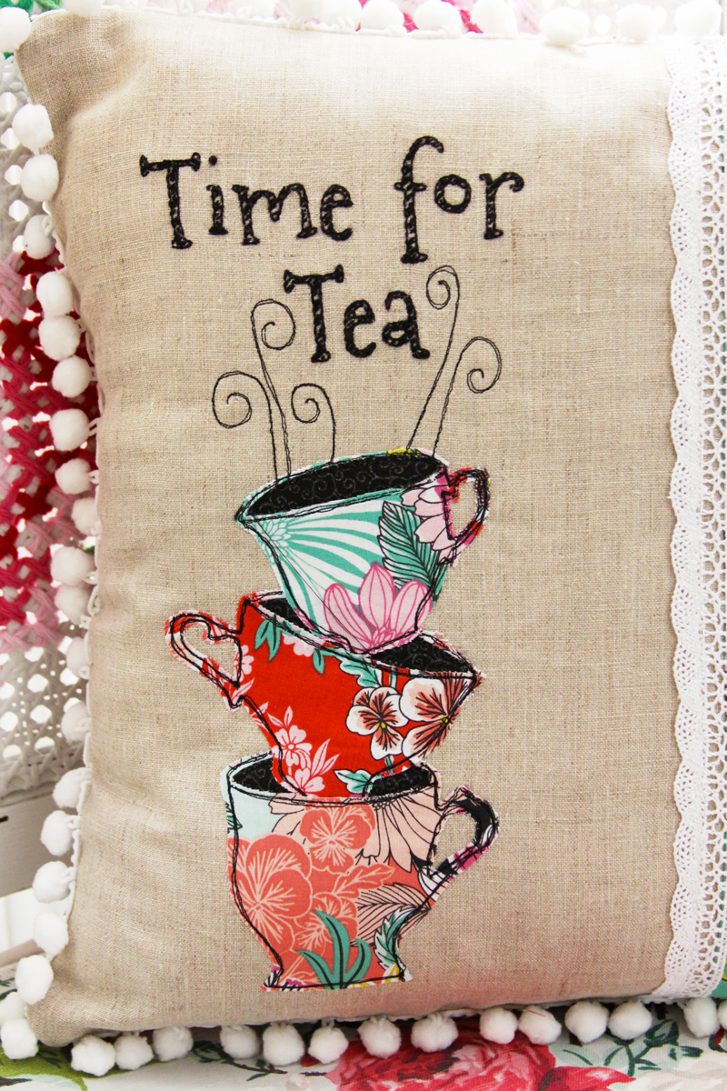 Flamingotoes.com Time-for-Tea-Pillow 02