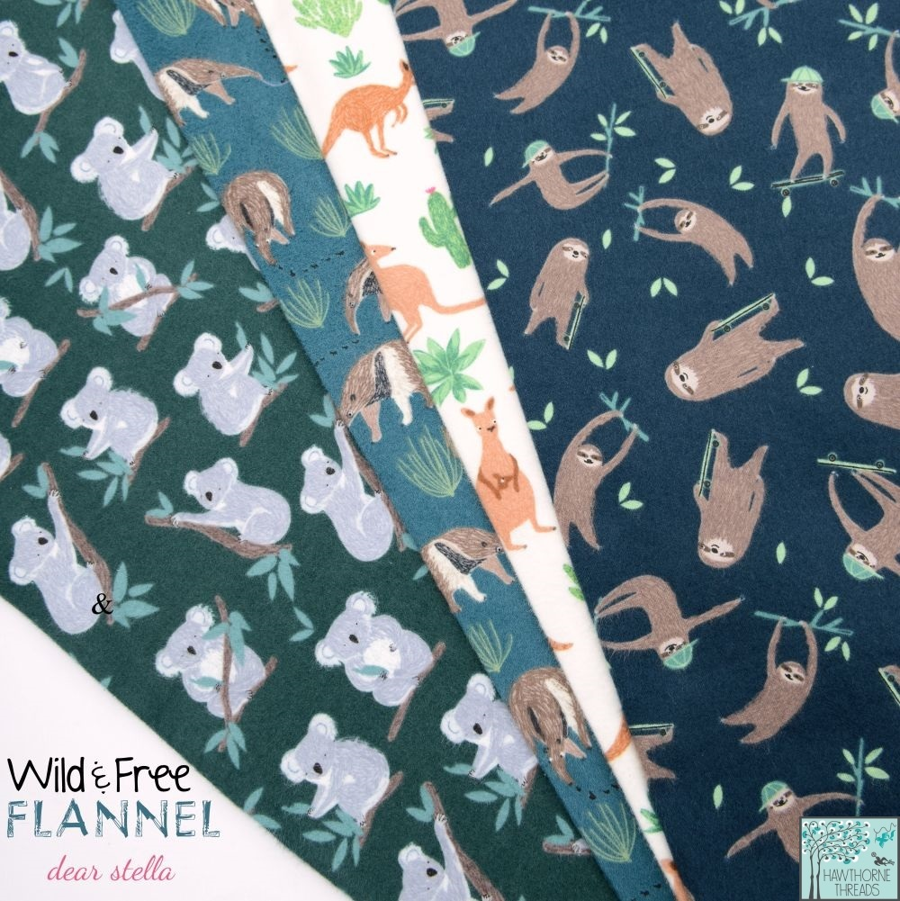 Wild and Free Flannel Fabric