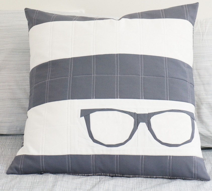 Reading Glasses Paper Pieced Pillow