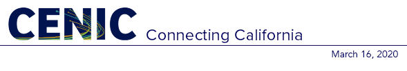 CENIC News 3.16.2020