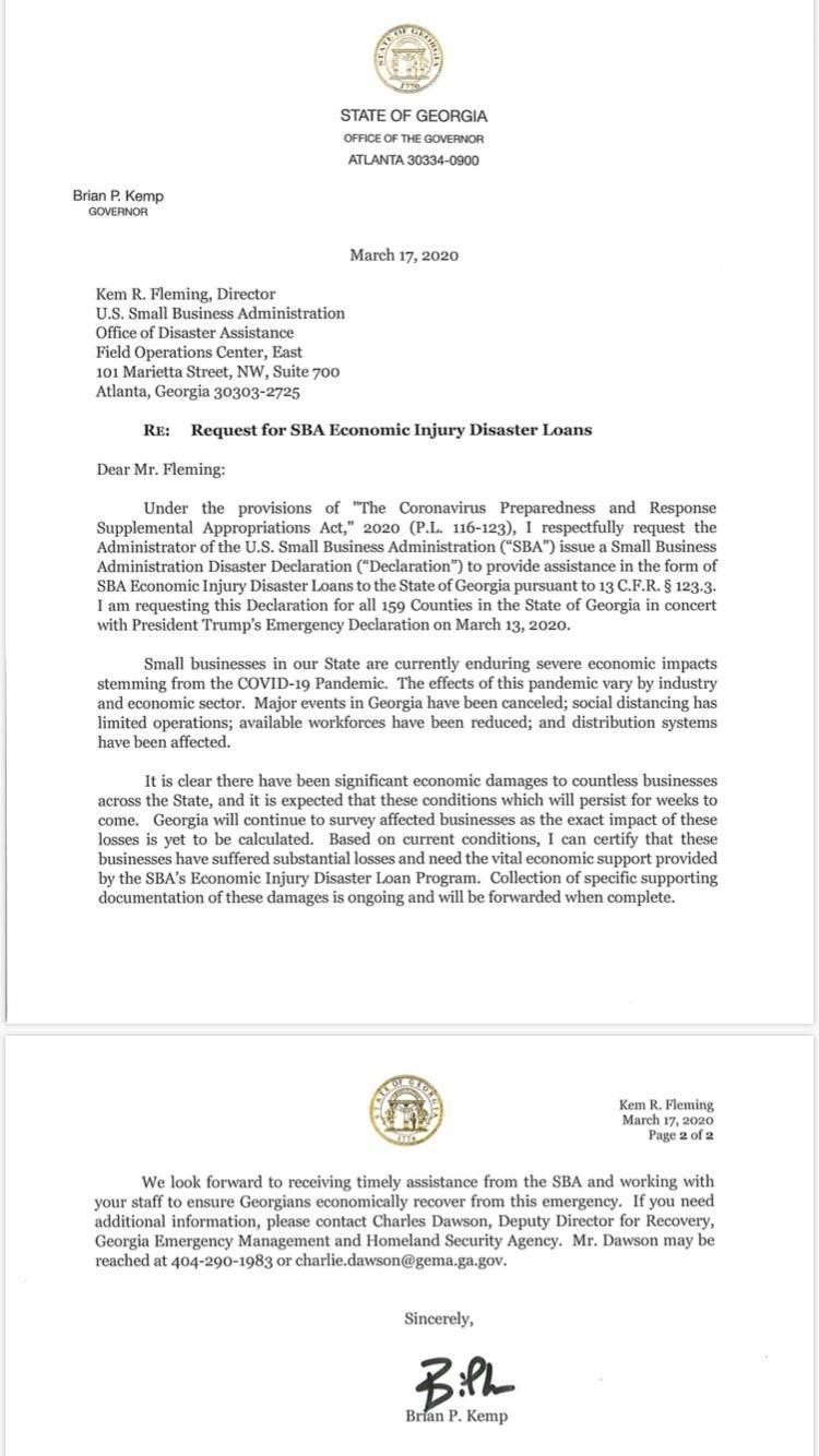 SBA Letter