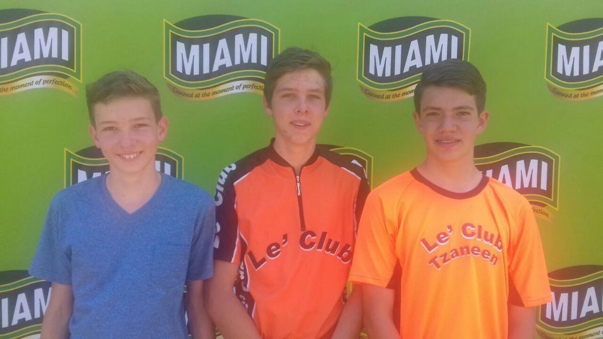 Mooketsi MTB Challenge - Bevan Muller  Sheldon Muller and Janco Coetzee