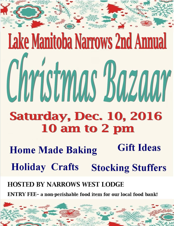 Lake Manitoba Narrows Chrsitmas Bazaar 2016