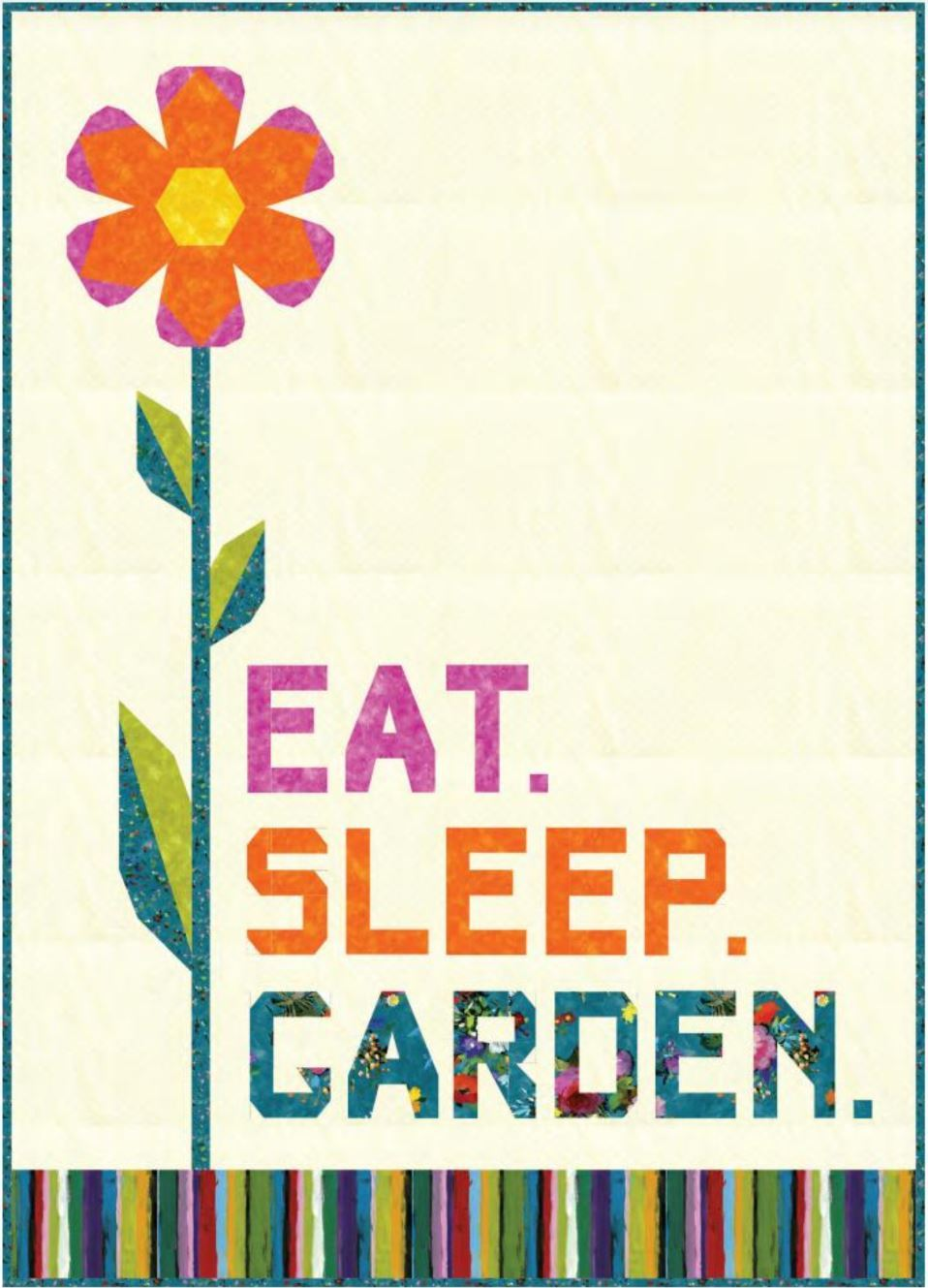 Eat Sleep Garden Quilt 2