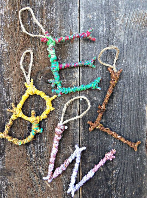 twigs and yarn
