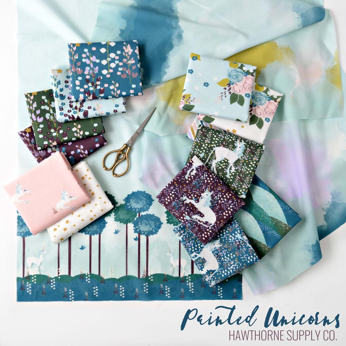 Painted Unicorns Fabric Poster Hawthorne Supply Co