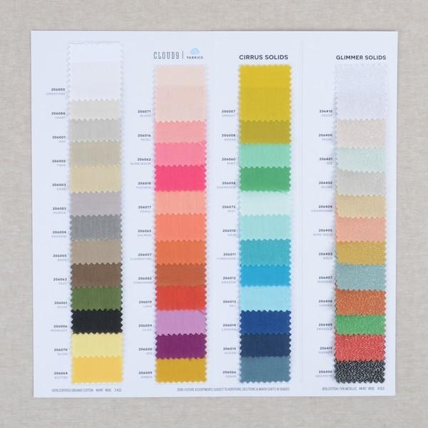 Cirrus Solids Color Card