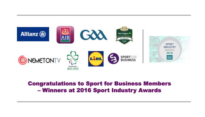 Irish Sport Industry Award Winners