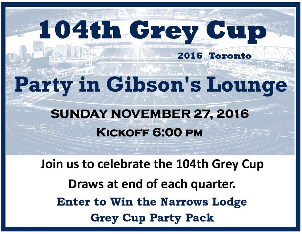104 Grey Cup Poster Card